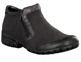 Rieker L4659-00 Ladies Black Fur Lined Ankle Boots